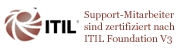 Banner: Support zertifiziert nach Itil Foundation V3