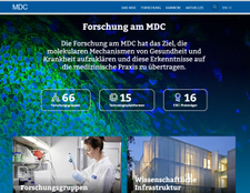Relaunch der Homepage des Max Delbrück Centrums unter Drupal 8