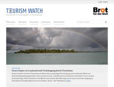Relaunch Homepage Tourism Watch für Brot für die Welt