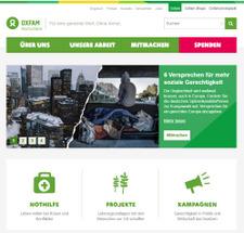 Grafischer Relaunch oxfam.de