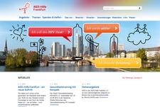 Screenshot der Frankfurter Aidshilfe
