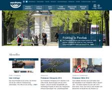 Der Internetauftritt der Stadt Potsdam im neuen Gewand.