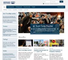 Der Bürgerhaushalt Potsdam mit einer neuen Homepage